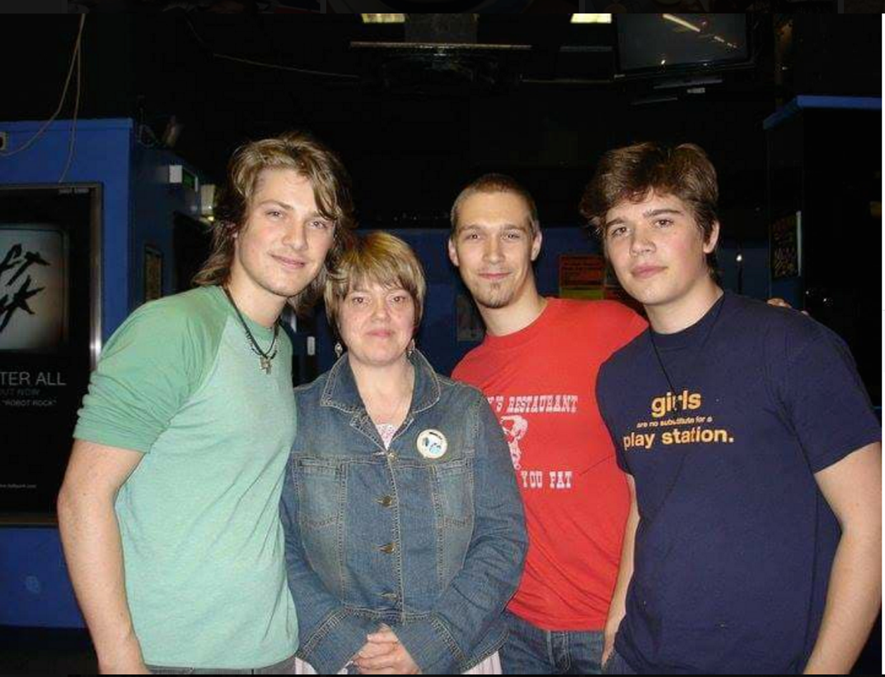 Chris with Hanson in 2005
